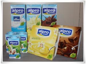 Alpro soya Produkte