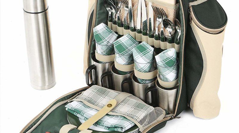 """Der """"The Greenfield Collection BPS4DGH Super Deluxe vier Personen luxus Picknick Rucksack"""" im Test – Das nächste Picknick kann kommen"""